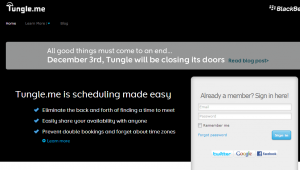 Replace the tungle.me booking system with a top system