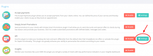 Pressione os botões de configuração para entrar nas configurações API de forma a obter os dados de conexão relevantes.