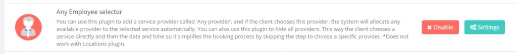 Ative o plugin Qualquer Provedor para definir os provedores como ocultos e, assim, simplificar o processo de reserva.