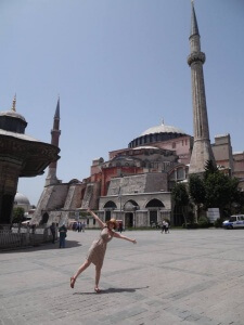Visiting Hagia Sophia, once the largest christian cathedral in the world.